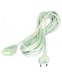 Prolunga elettrica 5mt 2P cavo H05W-F color bianco