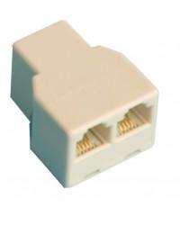 Accoppiatore switch telefono modulare, 6P / 4C, femmina a 2 femmine