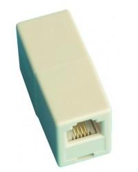 Adattatore / prolungatore telefonico modulare, 6P / 4C, femmina a femmina