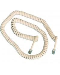 Cavo telefonico spiralato 4P / 4C da 4.5 metri, maschio a maschio