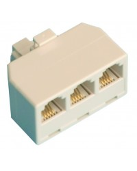 Accoppiatore telefonico modulare triplo da superficie, P6 / 4C