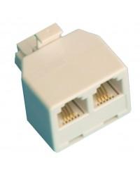 Accoppiatore telefonico modulare doppio , 6 poli 4 contatti