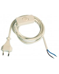 Connessione cavo filo elettrico bianco piano con interruttore 2A 250V