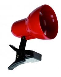 Lampada a morsetto E14 color rosso