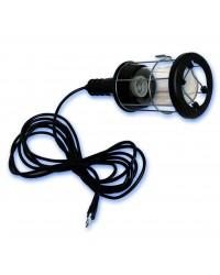 Lampada portatile industriale in metallo con gancio Max.60W/230V-50Hz.de 5 metri.
