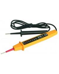 Tester di tensione / voltaggio. Controller di circuiti,  indica la tensione AC/DC, 6, 12, 24,50,110,220 e 380V.