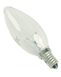 Scatola da 10 lampadine candela chiara a incandescenza E14 60W 230V