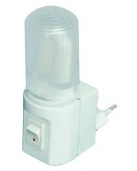 Luce notturna con interruttore, 1.5W 230V, ideale per camere, garage, scale, ecc.
