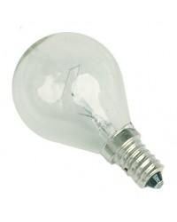 Scatola da 10 lampadine a incandescenza sferica chiara E14 25W 230V