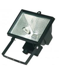Faro alogeno orientabile 500W 230V-IP44 uso esterno, color nero