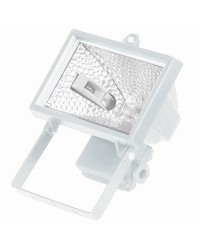 Faro alogeno orientabile 150W 230V-IP44 uso esterno, color bianco