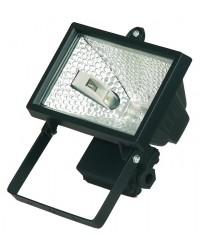 Faro alogeno orientabile 150W 230V-IP44 uso esterno, color nero