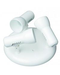 Plafoniera da soffitto circolare con 3 faretti E27 R63 Max. 60W, color bianco