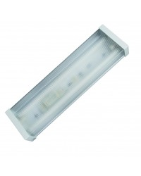 Lampada sottopensile con 2 tubi fluorescenti T8, 2x18W - 625x160x65mm