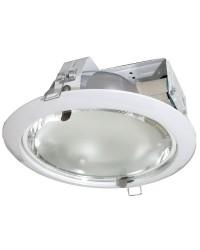 Downlight tondo da incasso 2 E27 x 25W - bianco
