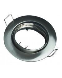 Anello orientabile rotondo da incasso - Nichel opaco