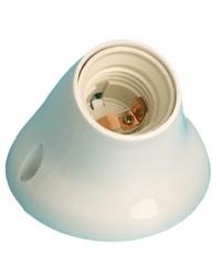 Portalampada E27 bianco in termoplastico con base curva Max. 40W 4A 250V