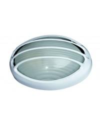 Applique da parete esterno in alluminio E27 color bianco