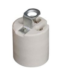 Portalampada in ceramica E27 4A 250V color bianco