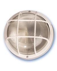 Lampada applique rotonda da parete esteriore in plastica, IP44 E27 color bianco