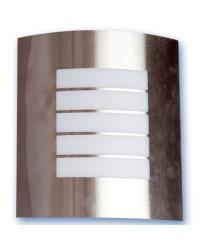 Lampada applique E27 IP44 da parete esteriore in acciaio inox Max. 60W 230V color nichel satinato