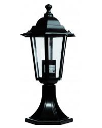 Lampada da muro E27 IP44 da giardino in alluminio con 6 lati color bianco
