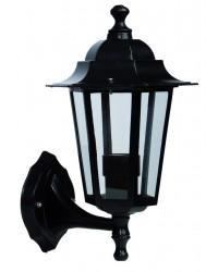Lanterna da parete per giardino esteriore 6 lati in alluminio E27 60W 230V IP44 color bianco