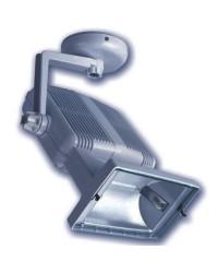 Proiettore alogenuro 150W con reattanza incorporata lampada R7s 230V IP23 uso interno o esterno coperto color bianco