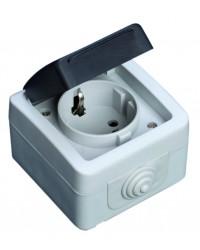 Presa semplice Schuko impermeabile IP44, uso esterno 16A, 250V 50Hz