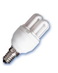 Scatola da 10 lampadine a basso consumo mini 6U 15W E14 2700K Luce calda