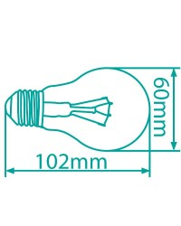 Scatola da 10 lampadine ECO alogene standard E27 42W (60W)