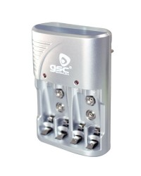 Carica batterie ultra rapido per pile ricaricabili R3 / R6 - AAA / AA - 9V