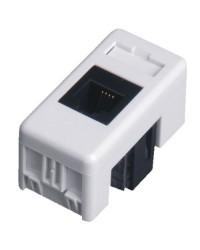 Presa telefonica RJ11 per scatola esterna impermeabile IP40 / IP55