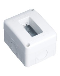 Scatola impermeabile IP40 da superficie per 1 posto