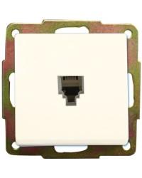 Presa per telefono a incasso bianca (6p4c), 56x56mm