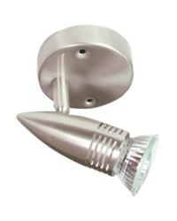Plafoniera da soffitto con 1 faretto alogeno diretto a corrente 220V - 50Hz 50W GU10
