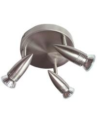 Plafoniera da soffitto circolare con 3 faretti alogeni diretto a corrente 220V - 50Hz 2x50W GU10