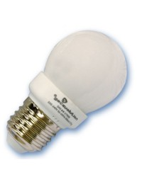 Scatola da 10 lampadine sferiche a basso consumo 11W E14 2700K Luce calda