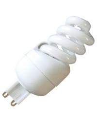 Scatola da 10 lampadine G9 a spirale basso consumo 11W 600lm 4200K