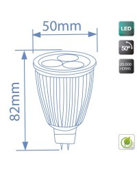 Lampadine LED MR16 7,5W 350lm 2700K 50º
