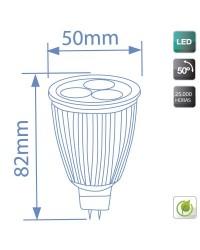 Lampadine LED MR16 7,5W 350lm 6400K 50º
