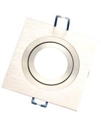 Anello da incasso quadrato liscio in alluminio, 90x90mm