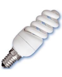 Scatola da 10 lampadine Micro spirale a basso consumo 15W E14 2700K Luce calda