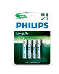 Scatola da 12 blister da 4 pile saline Philips R-03 (AAA) - batterie