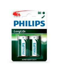 Scatola da 12 blister da 2 pile saline Philips R14 (C) - batterie