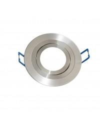 Anello tondo liscio a incasso in alluminio Ø90mm