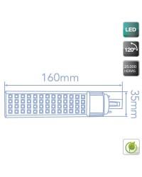 Lampadina con 24 LEDs SMD5630 / PLC G24 11W 1000lm 4200K luce naturale