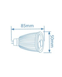 Lampadine LED MR16 9W 420lm, 6400K 50º