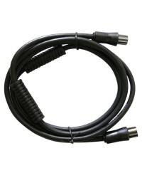 Prolunga 1.5 metro cavo coassiale TV da Ø9.5mm, con filtro, maschio a femmina, nero
