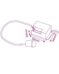 Rilevatore di movimento da incasso. Soffitto / Lampade. Compatibile LED